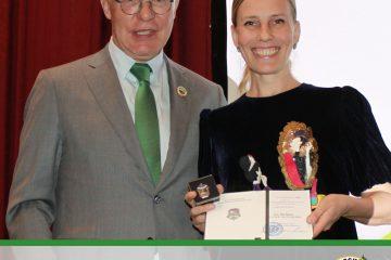 Наталья Калягина удостоена нагрудного знака «Отличник охраны природы»